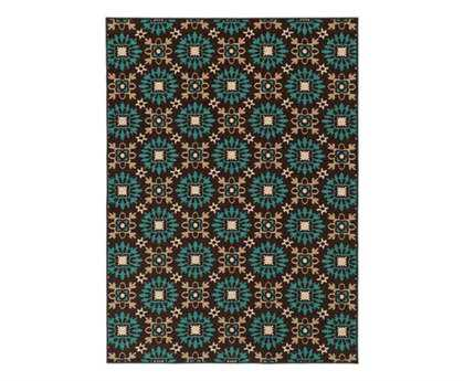 Oriental Weavers Arabella Transitional Brown Machine Made Synthetic Floral/Botanical 2'2
