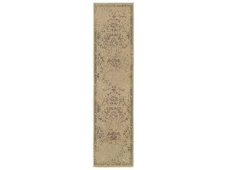 Oriental Weavers Chloe Transitional Brown Machine Made Synthetic Floral/Botanical Area Rug- 3251K-RUN