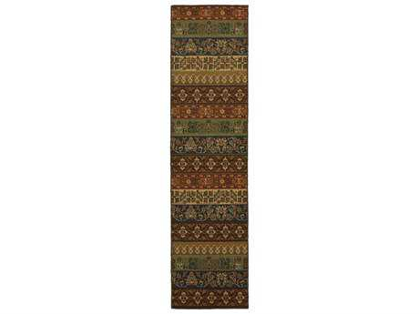 Oriental Weavers Parker Transitional Brown Machine Made Synthetic Floral/Botanical Area Rug- 3305C-RUN