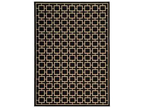 Oriental Weavers Ella Modern Black Machine Made Synthetic Geometric 1'10
