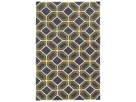 Oriental Weavers Pantone Universe Matrix Modern Gray Hand Made Wool Geometric 3'6