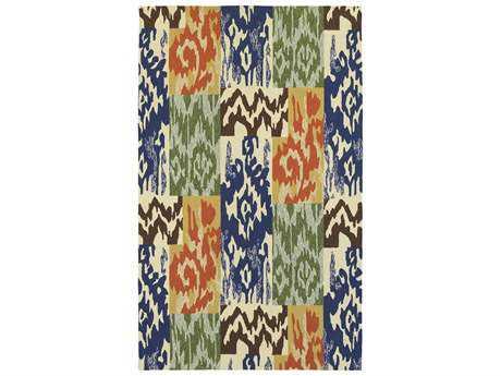 Oriental Weavers Tommy Bahama Atrium Modern Blue Hand Made Synthetic Southwestern 3'6