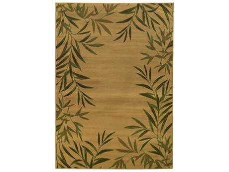 Oriental Weavers Tommy Bahama Villa Transitional Brown Machine Made Synthetic Floral/Botanical 1'10