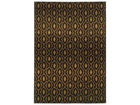 Oriental Weavers Parker Transitional Black Machine Made Synthetic Southwestern 3'10