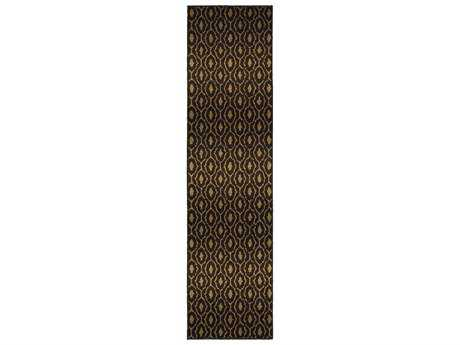 Oriental Weavers Parker Transitional Black Machine Made Synthetic Southwestern Area Rug- 5845B-RUN