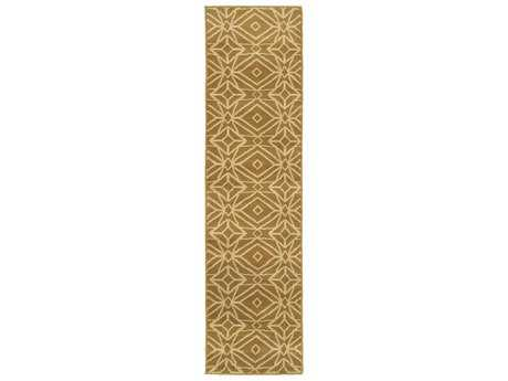 Oriental Weavers Stratton Modern Yellow Machine Made Synthetic Geometric Area Rug- 5882A-RUN