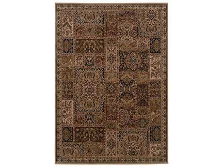 Oriental Weavers Cambridge Traditional Brown Machine Made Synthetic Floral/Botanical 1'10