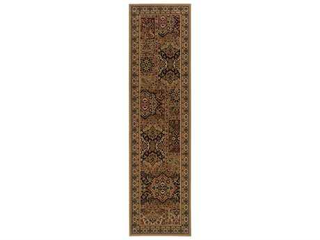 Oriental Weavers Cambridge Traditional Beige Machine Made Synthetic Floral/Botanical Area Rug- 5991Y-RUN