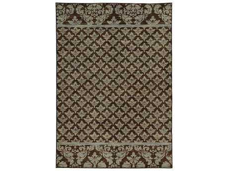 Oriental Weavers Harper Transitional Brown Machine Made Synthetic Floral/Botanical 3'3