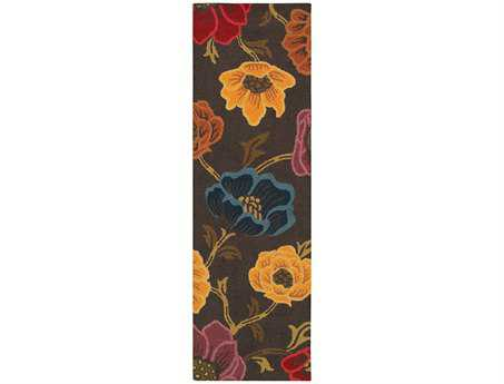 Oriental Weavers Eden Transitional Brown Hand Made Wool Floral/Botanical Area Rug- 87101-RUN