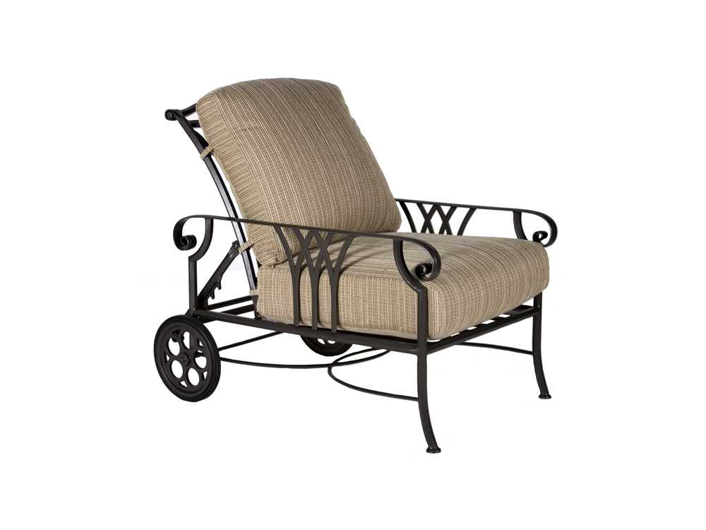 Ow Lee Montrachet Aluminum Adjustable Lounge Chair With
