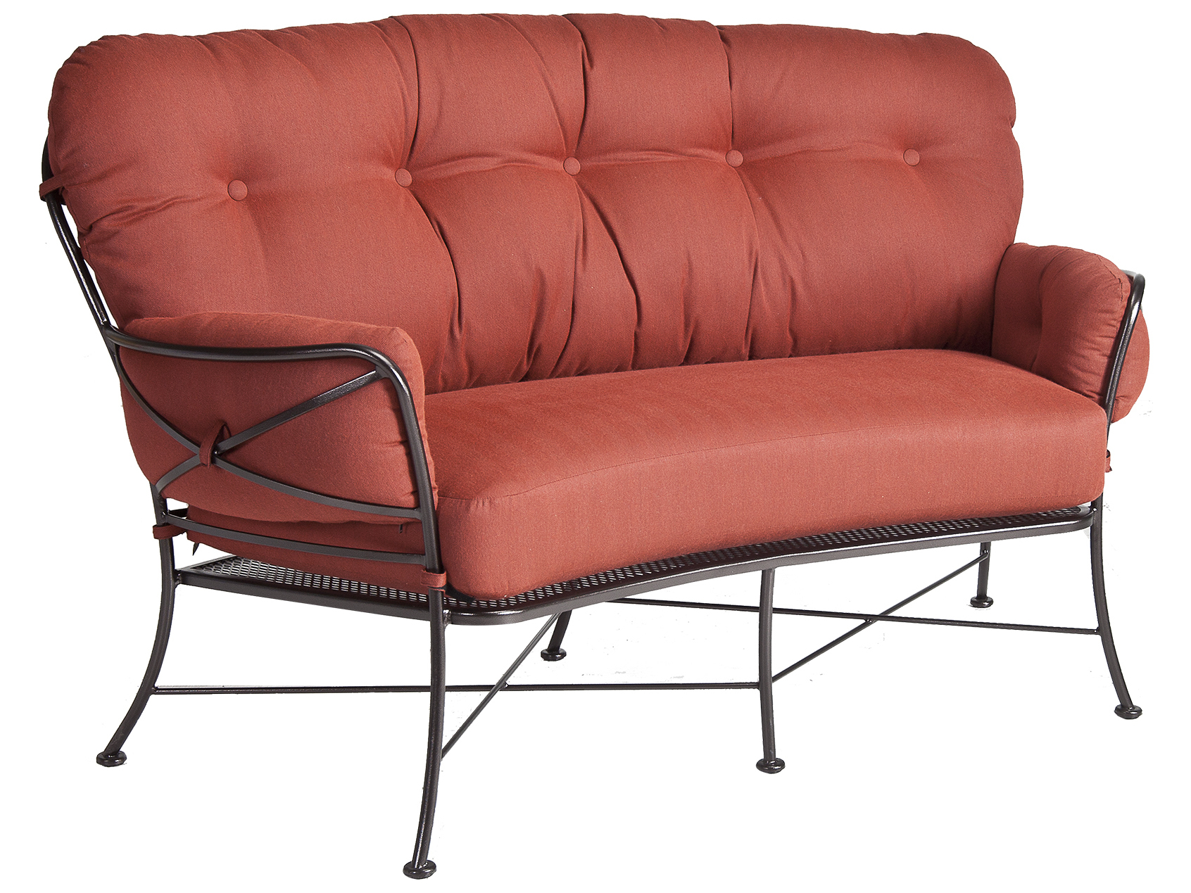 Ow Lee Cambria Wrought Iron Crescent Loveseat 17136 2s