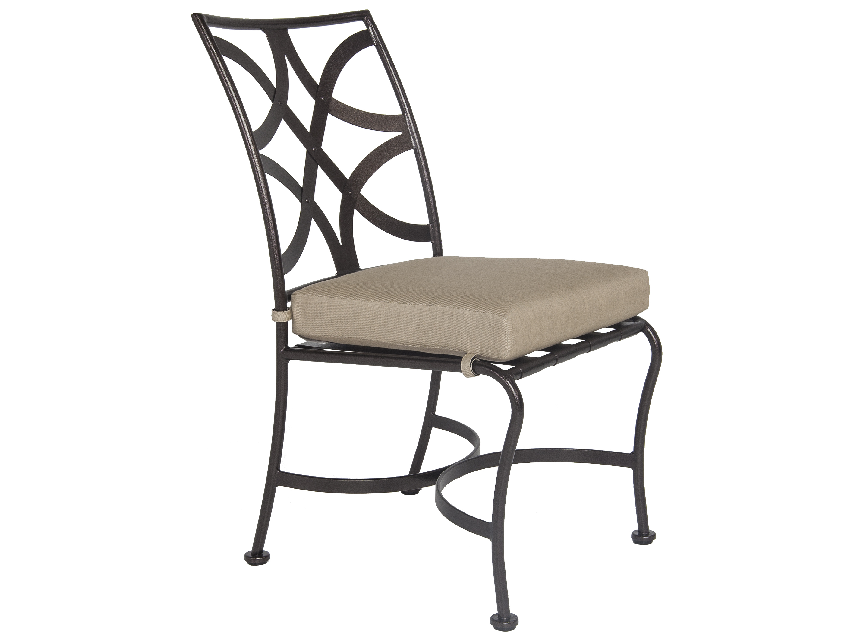 Iron Dining Chairs ~ Ow lee marquette wrought iron dining side chair s