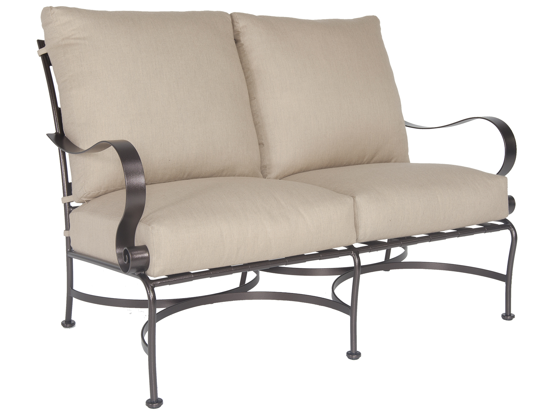 Ow Lee Marquette Wrought Iron Loveseat 2056 2s
