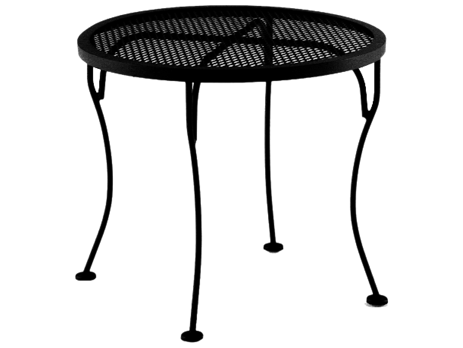 OW Lee Micro Mesh Wrought Iron Round 24 End Table