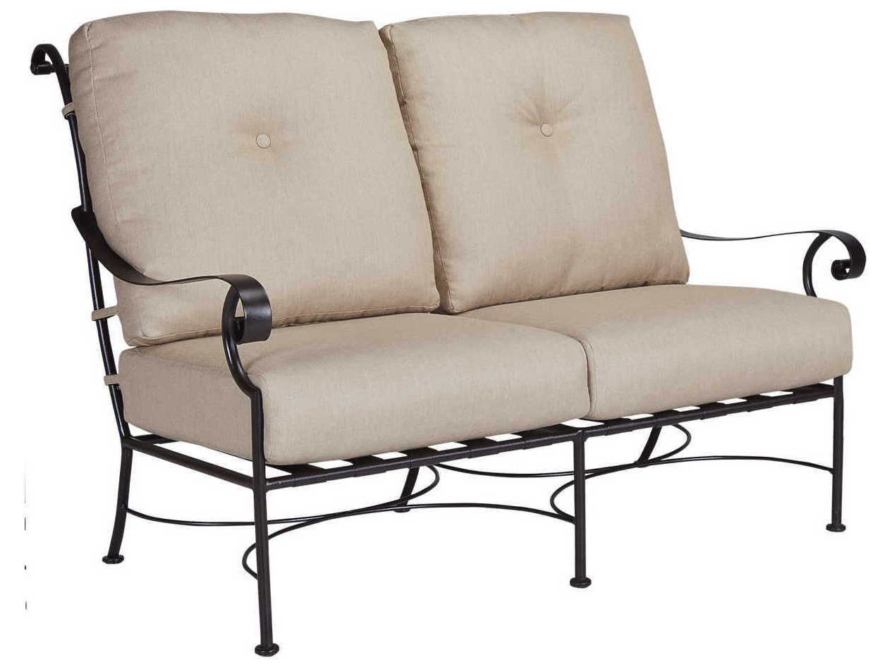 Ow Lee St Charles Wrought Iron Loveseat 26125 2s