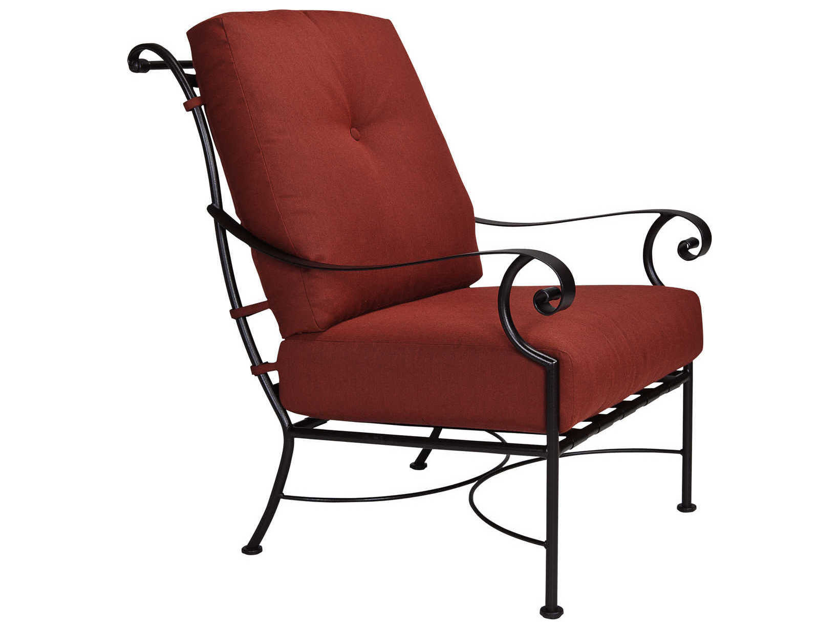 OW Lee St Charles Wrought Iron Lounge Chair