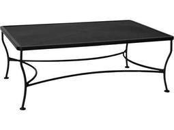 OW Lee Mesh Wrought Iron 30 x 48 Rectangular Coffee Table