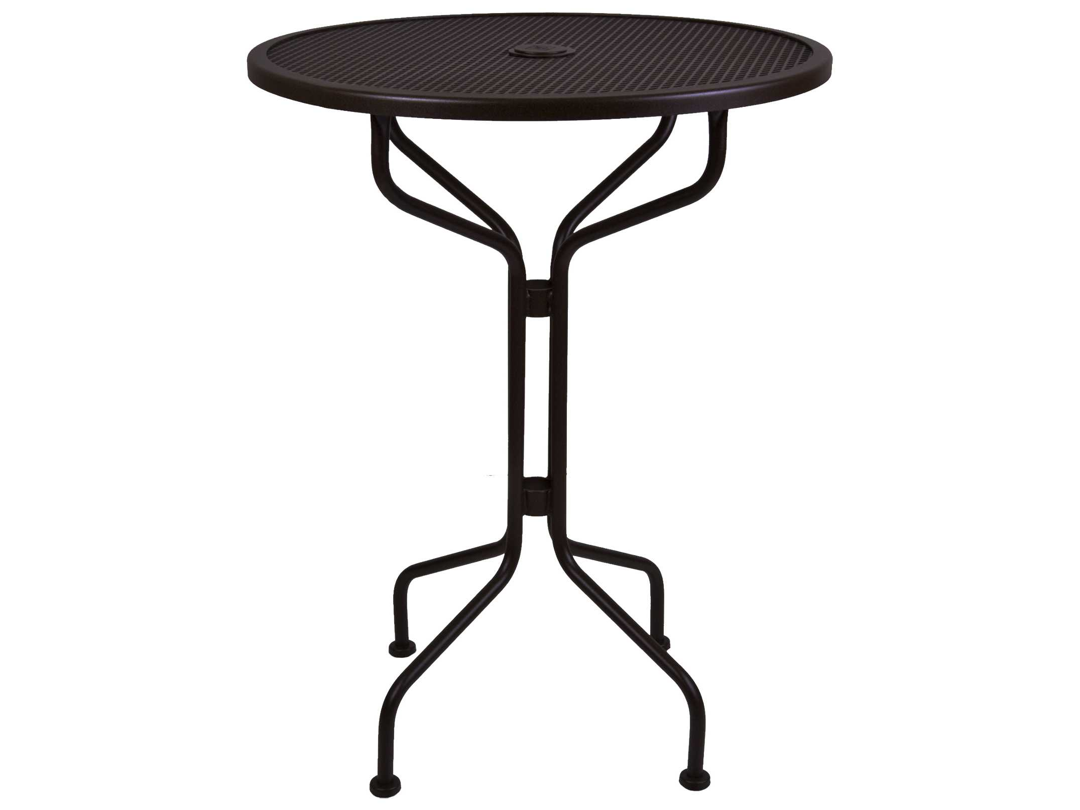 OW Lee Mesh Wrought Iron 30 Round Bar Table