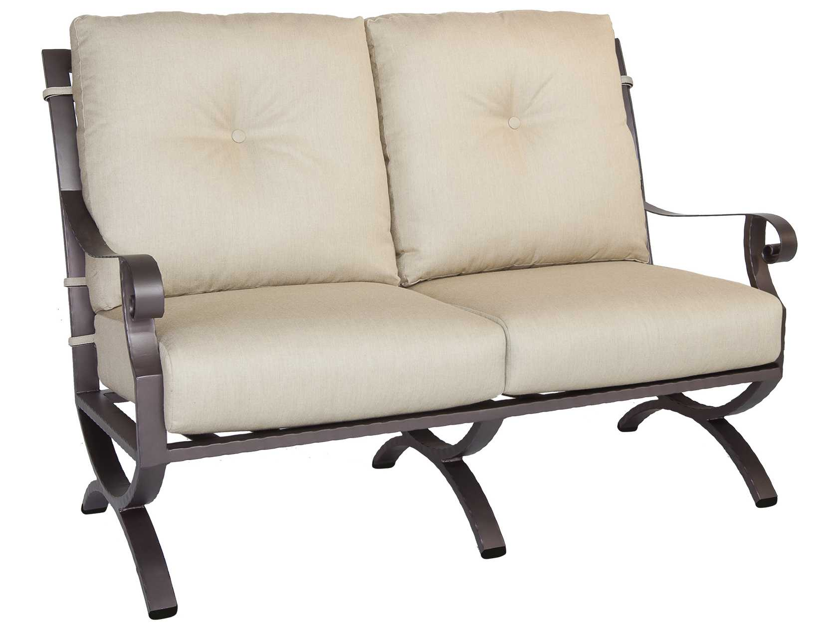 Ow Lee Luna Wrought Iron Loveseat 32125 2s