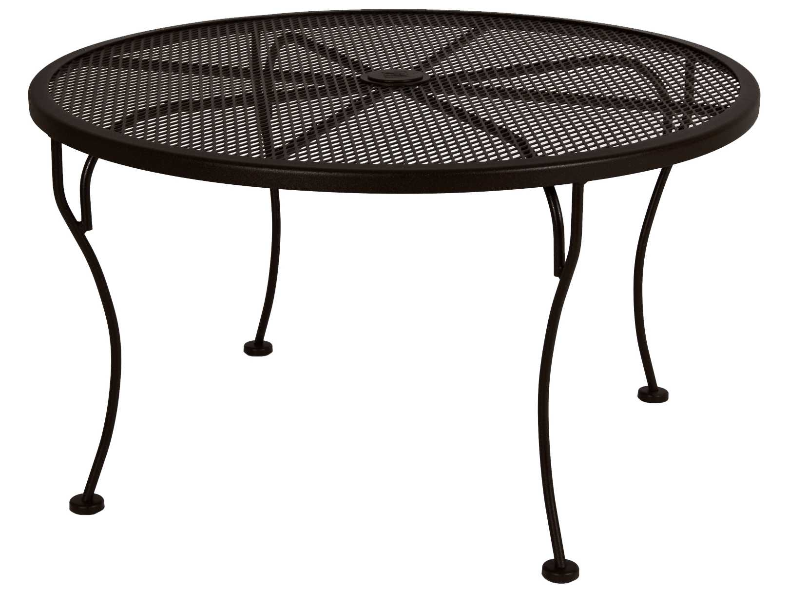 ow lee standard mesh wrought iron 36 round side table with