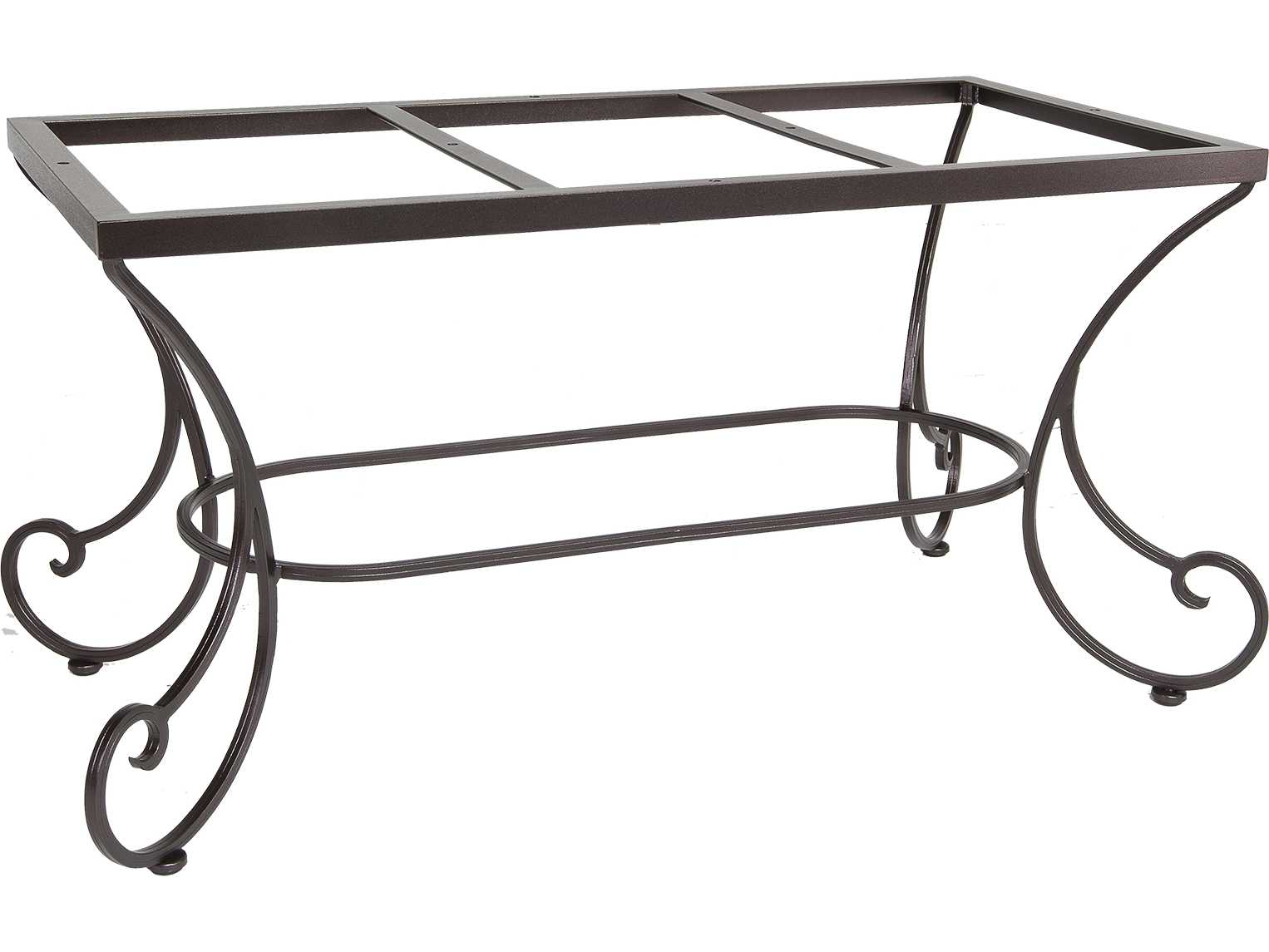 Ow lee bellini wrought iron dining table base 41 dt07 for Outdoor table bases wrought iron