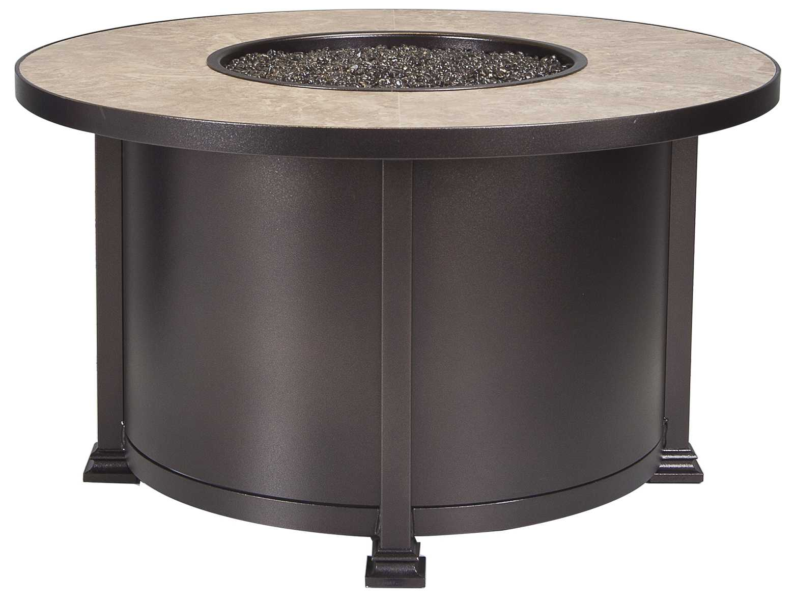 ... fireside santorini wrought iron round patio fire pit table ow5108a