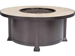 OW Lee Casual Fireside Santorini Wrought Iron 42 Round Occasional Height Fire Pit Table