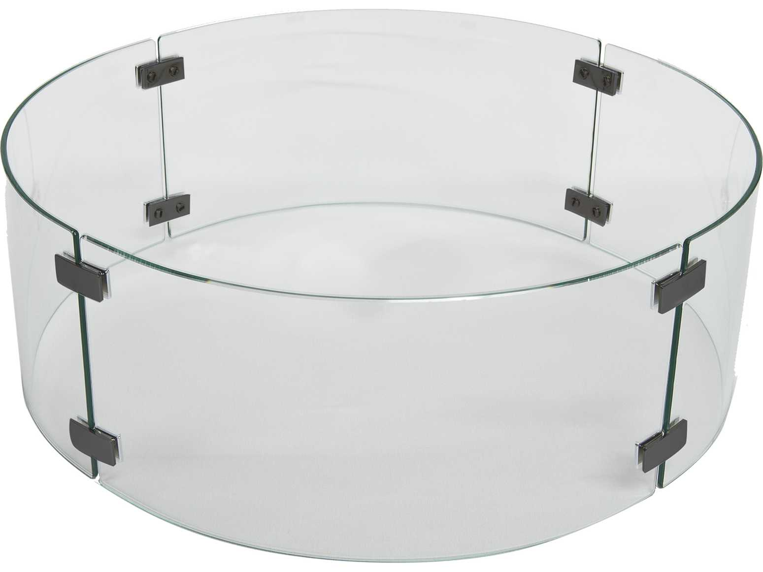 Ow Lee Casual Small Round Glass Fire Guard 51 142g