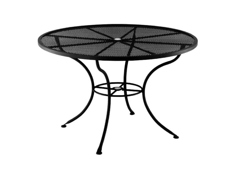 Ow lee mesh wrought iron 54 round dining table with for Ornamental centrepiece for a dining table