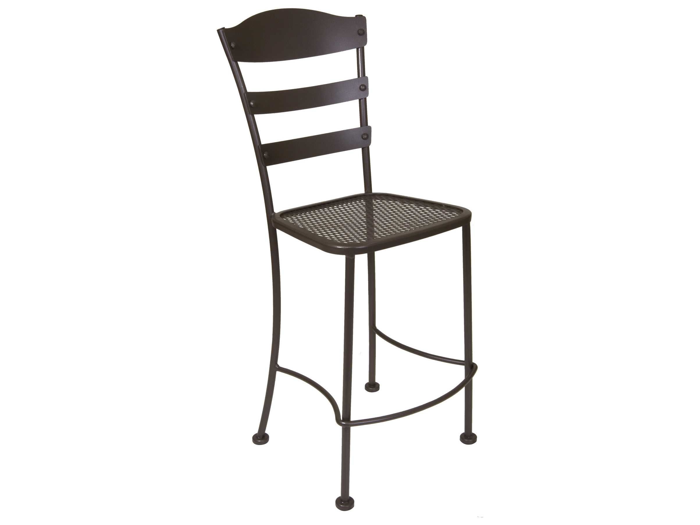 Ow lee chalet wrought iron bar stool bs