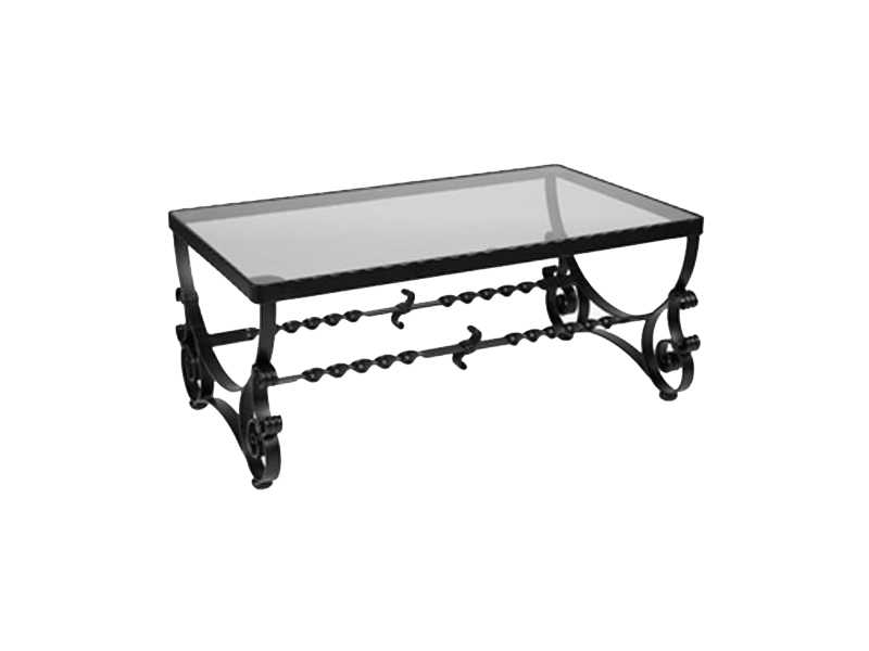 Ow lee san cristobal wrought iron 40 x 24 rectangular for Coffee table 40 x 24