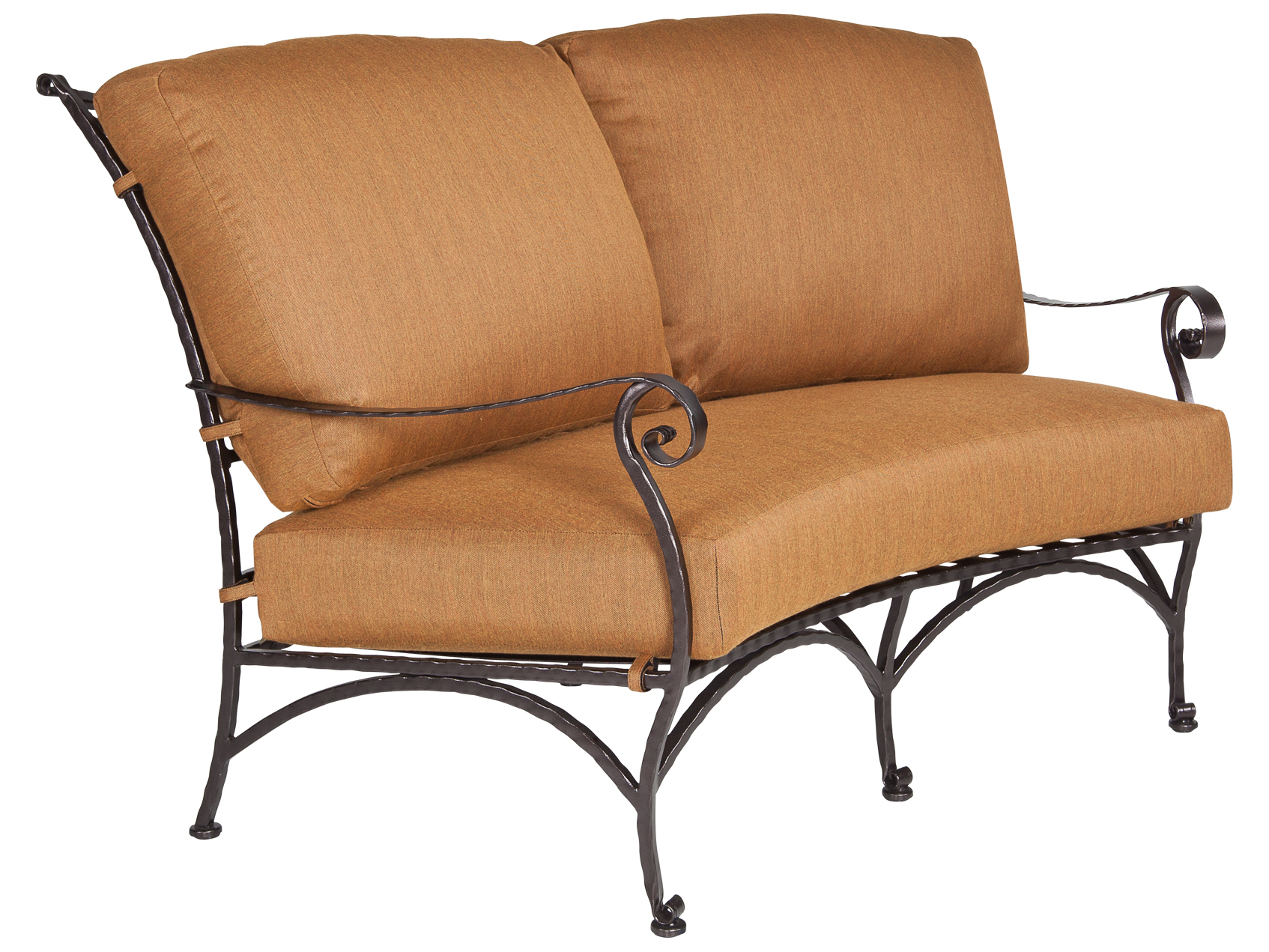 Ow Lee San Cristobal Wrought Iron Crescent Love Seat 692 2s