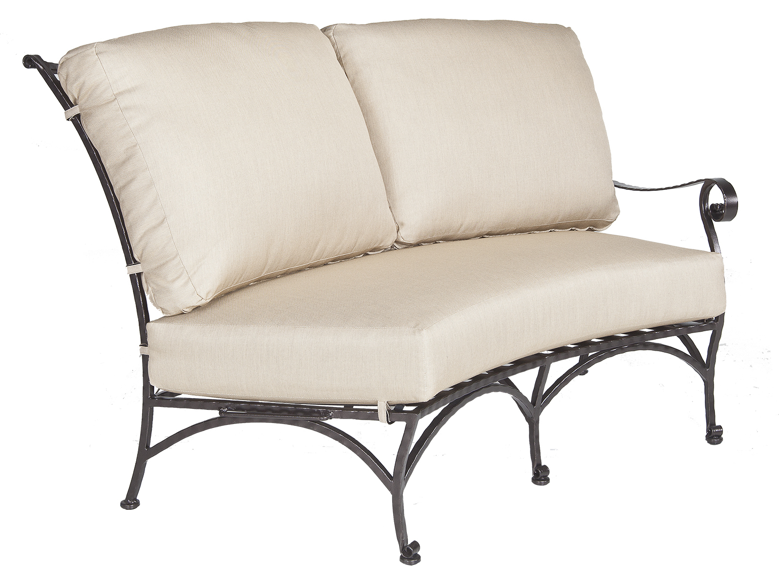 Ow Lee San Cristobal Wrought Iron Left Sectional Loveseat 692 L