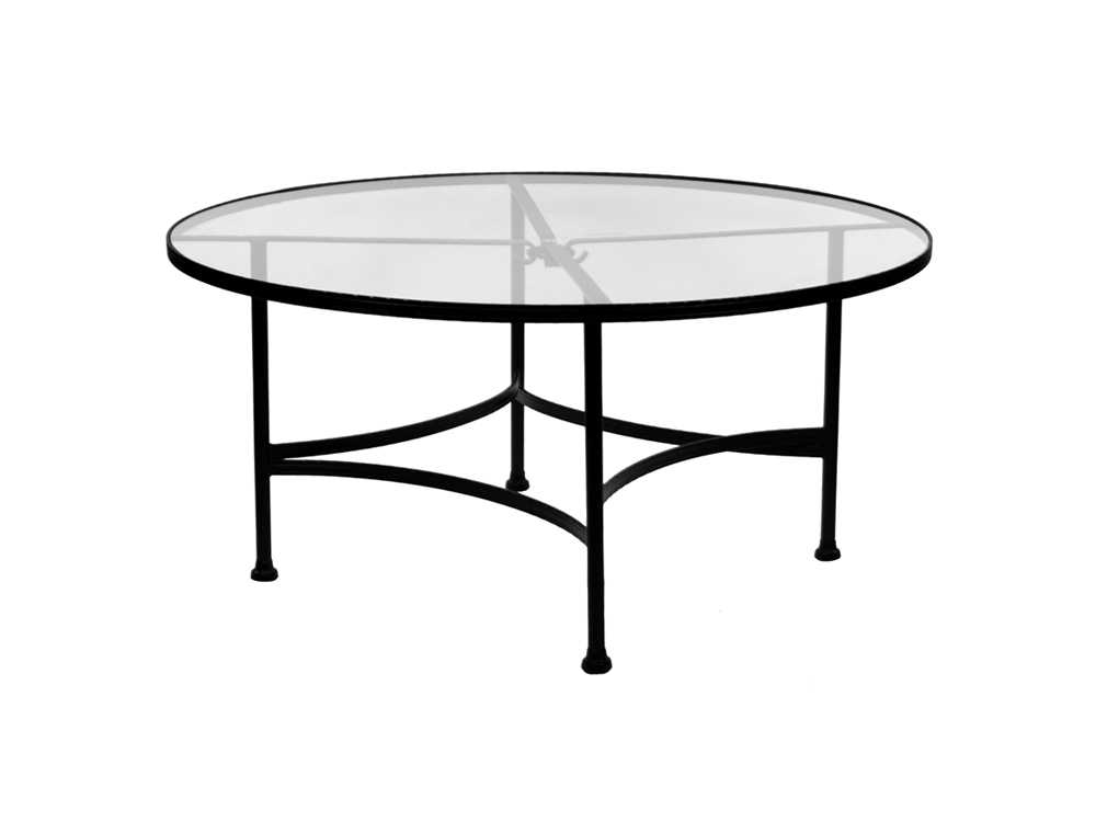 OW Lee Classico Wrought Iron 48 Round Tempered Glass Top ...
