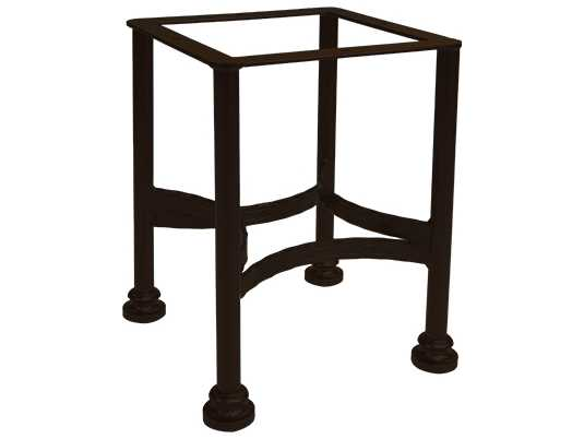 Ow lee classico wrought iron side table base 9 st01 for Wrought iron side table base
