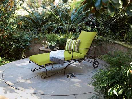 OW Lee Bellini Wrought Iron 1 Person Cushion Pool Patio Lounge Set
