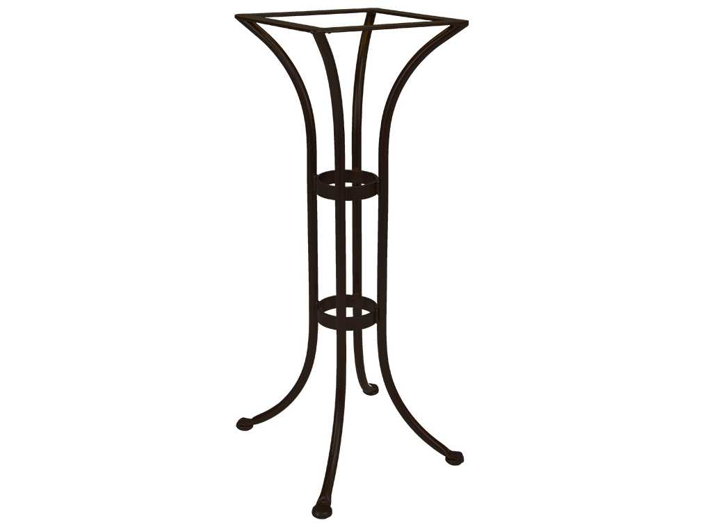 Ow lee wrought iron round bar table base bt01 base for Outdoor table bases wrought iron
