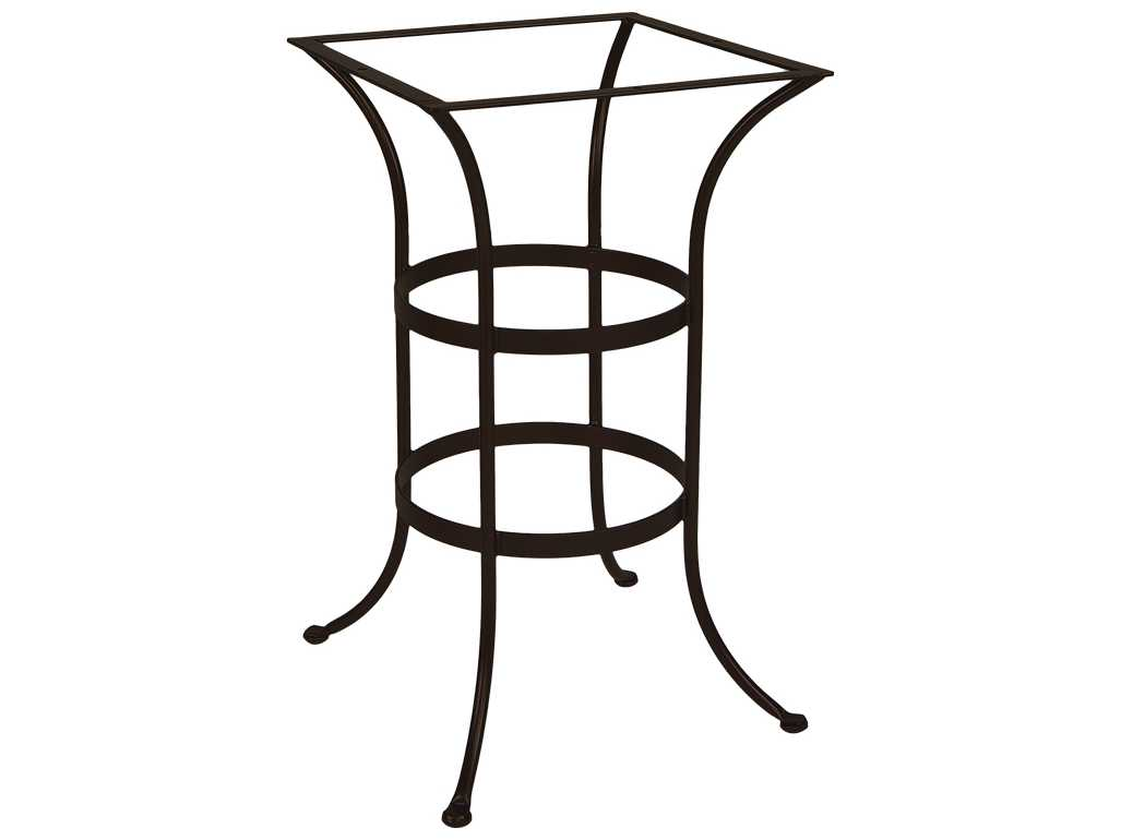 OW Lee Wrought Iron Square Bar Table Base