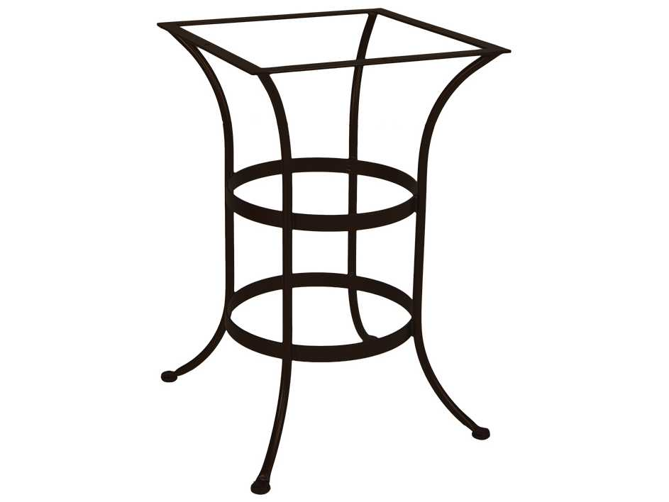 Ow lee wrought iron square counter table base ct03 base for Outdoor table bases wrought iron