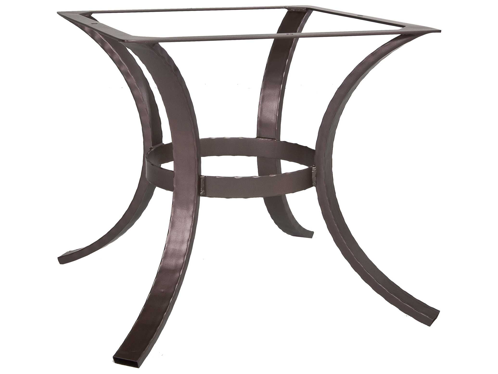 Hammered Wrought Iron 04 Dining Table Base Hammered Iron Tables Bases