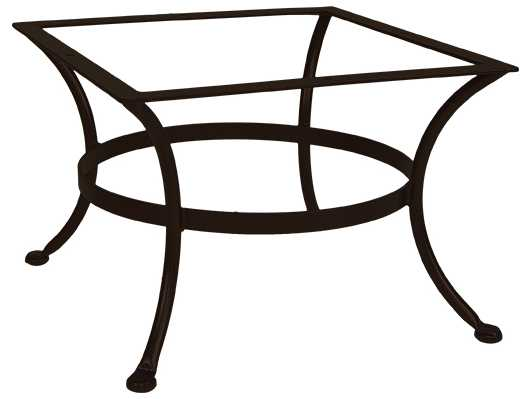 Ow lee wrought iron round coffee table base 25w x 25d x 17 5h ot03 base Wrought iron coffee table bases