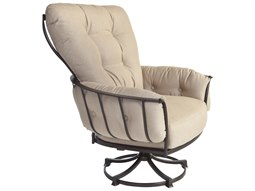 OW Lee Quick Ship Monterra Wrought Iron Swivel Rocker Lounge Chair