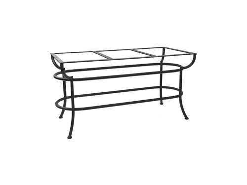 OW Lee Wrought Iron Aluminum Rectangular Dining Table Base SA DT07