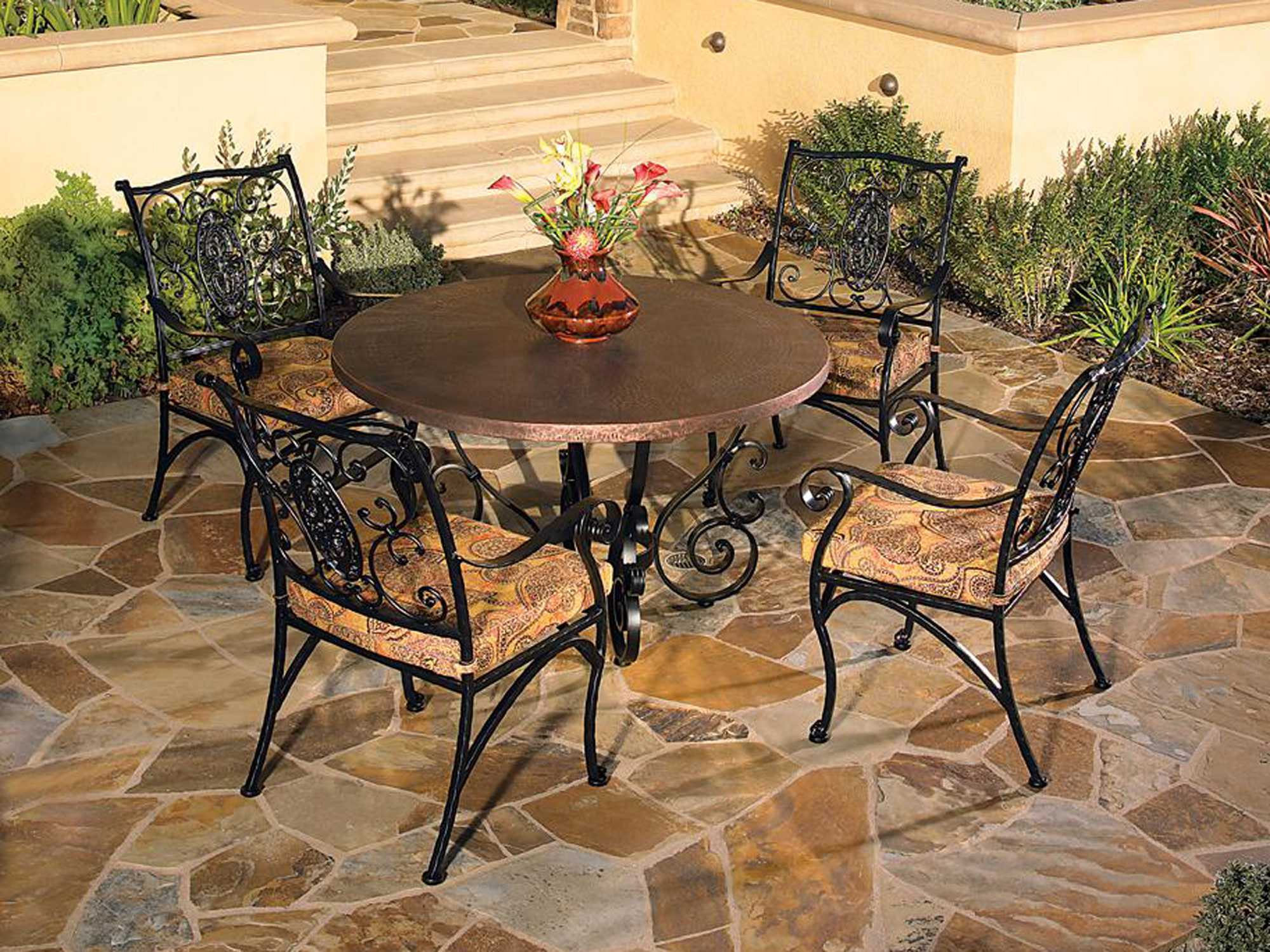 OW Lee San Cristobal Wrought Iron Dining Table Base 6 DT03
