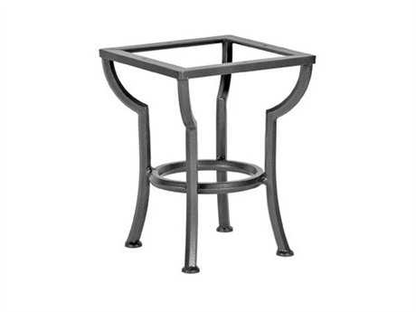 Ow lee wrought iron round end table base sa st01 for Wrought iron side table base