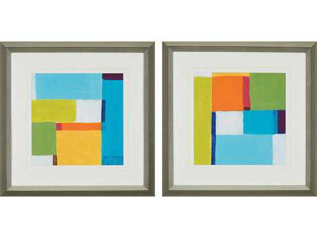 Paragon Vess City Square I Giclee Painting (Two-Piece Set)