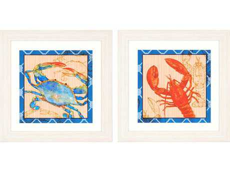 Paragon Roberts Crab/Lobster Exclusive Giclee Painting (Two-Piece Set)