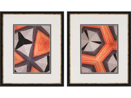 Paragon Sikes Intersecting Orange Exclusive Giclee Painting (Two-Piece Set)