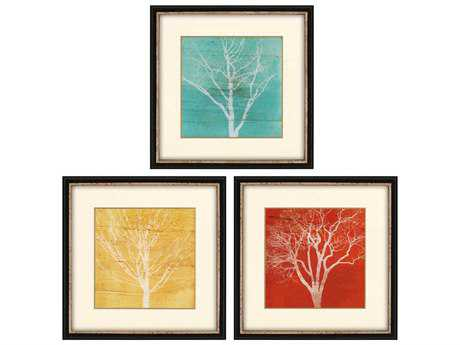 Paragon Fontaine Fallen Leaves Shadow Box Wall Art (Three-Piece Set)